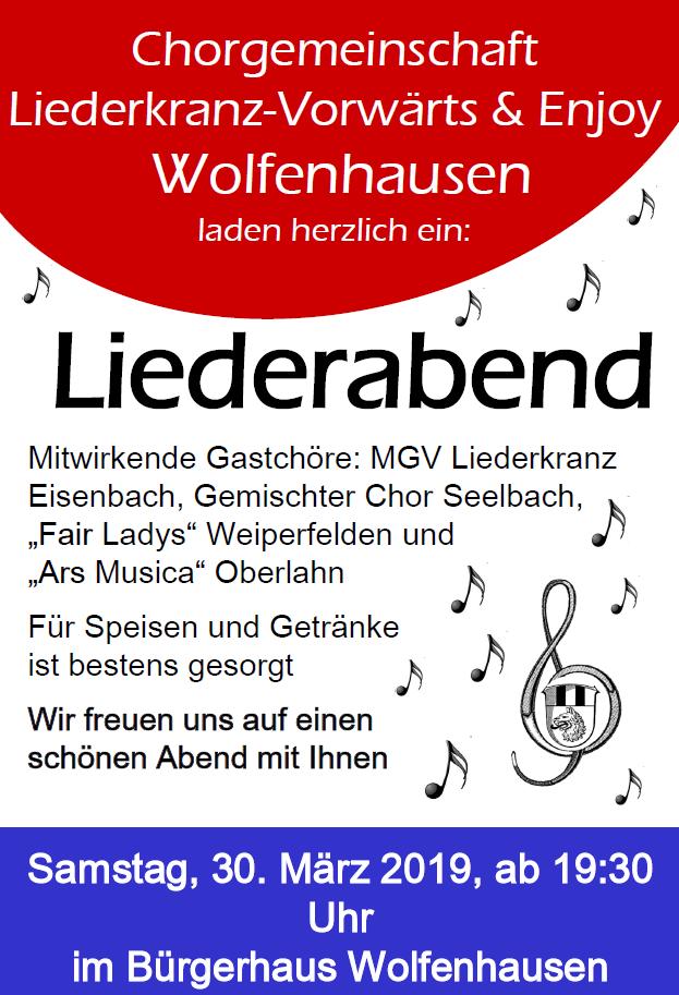 Liederabend in Wolfenhausen