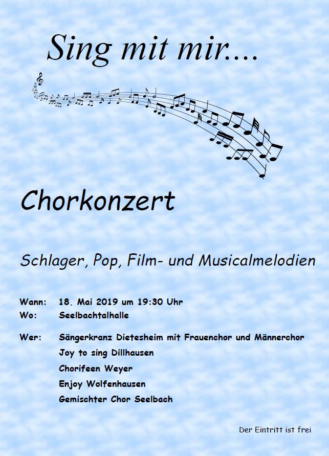 Chorkonzert in Seelbach