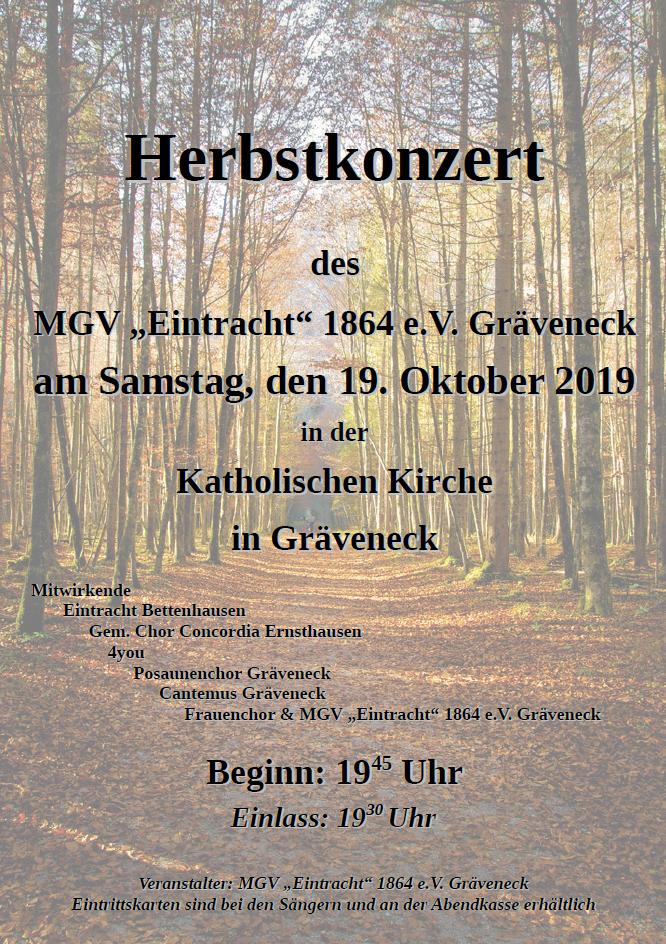 Herbstkonzert in Gräveneck